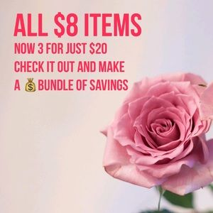 🌹🌹BIG SALE ON ALL $8 ITEMS 🌹🌹